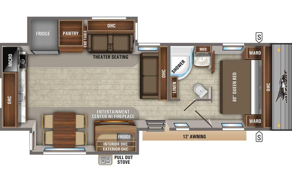 Jay Flight 31MLS floor plan diagram.