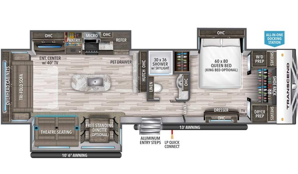 Transcend 31RLK floor plan diagram.