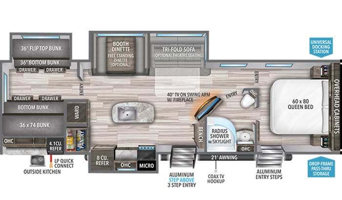 Imagine 3250BH floorplan diagram