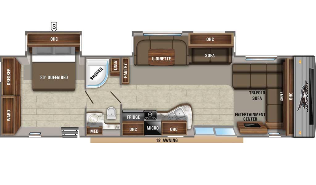 Jay Flight 38FDDS floor plan diagram.
