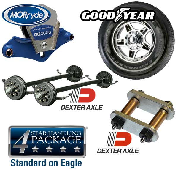 Image showing 4-star handling package that is standard with Jayco Eagle.