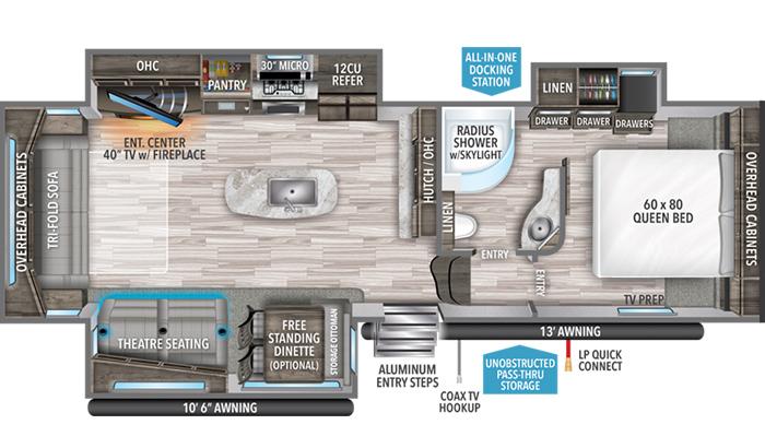Reflection 303RLS floor plan diagram