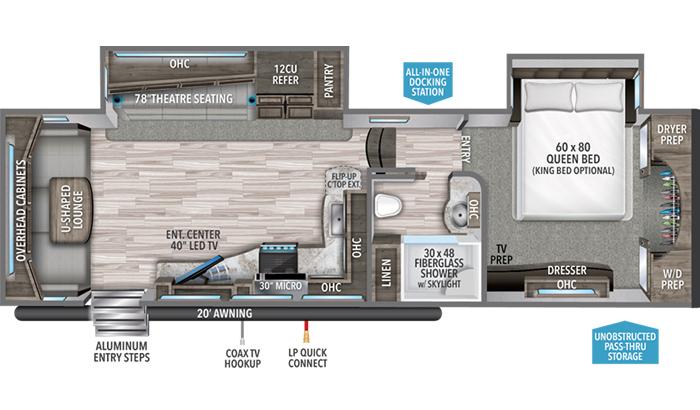 Reflection 310RLS floor plan diagram