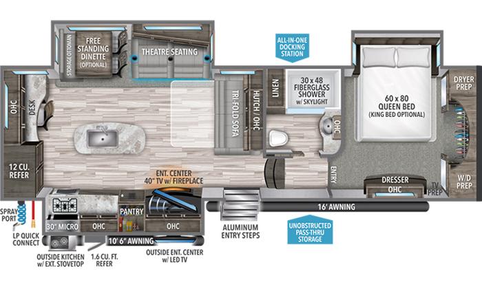 Reflection 320MKS floor plan diagram