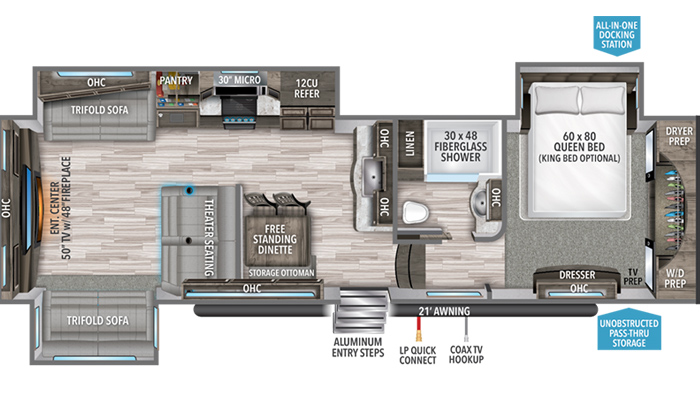 Reflection 340RDS floor plan diagram
