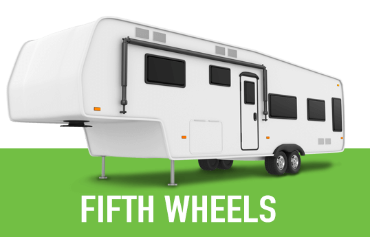 Illustration of a generic fifth wheel RV.