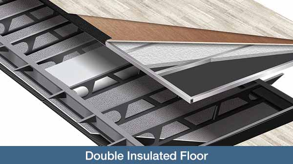 Cutaway showing double insulated floor.