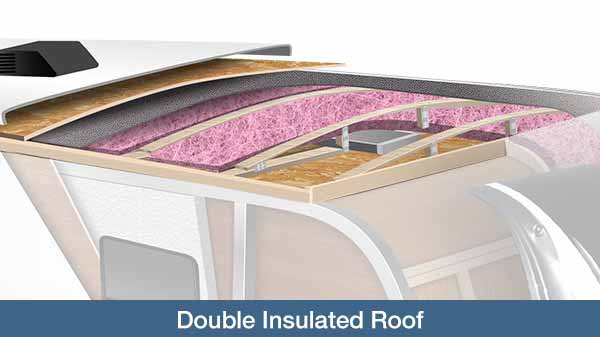 Cutaway showing double insulated roof.