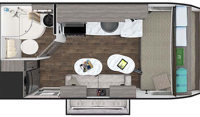 Lance 1475S floor plan diagram