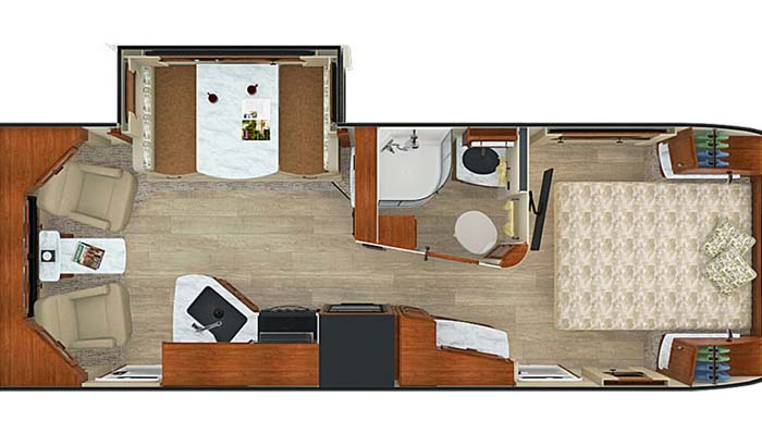 Lance 2375 floor plan diagram