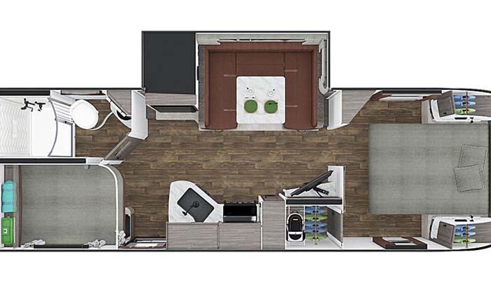 Lance 2445 floor plan diagram