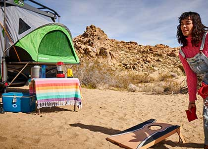 Blog post about five pros and cons of owning a popup tent camper.