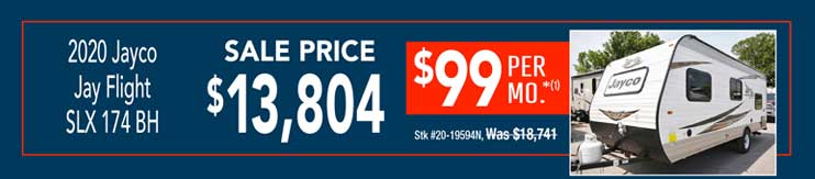 2020 Jayco Jay Flight 174BH. Sale: $13,804
