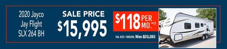 2020 Jayco Jay Flight SLX 264 BH. Sale: $15,995