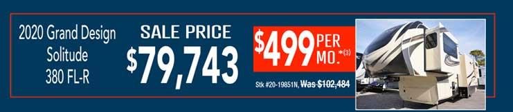 2020 Grand Design Solitude 380 FL-R. Sale: $79,743