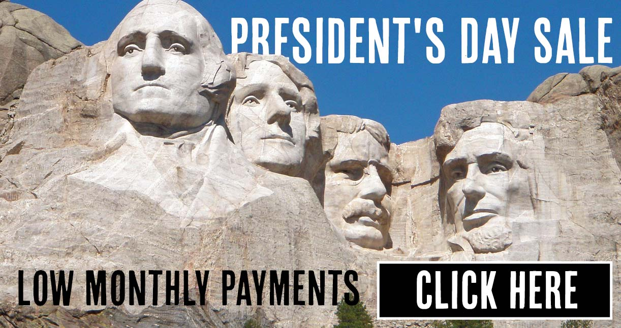 Click here to view our presidents day sale