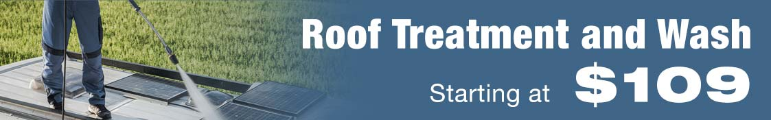 Roof treatment and wash starting at only $109.