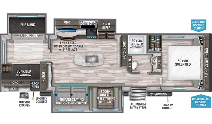 Reflection 312BHTS floor plan diagram