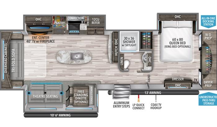 Reflection 315RLTS floor plan diagram