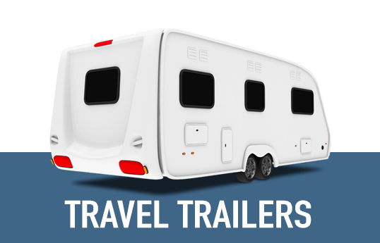 Illustration of a generic travel trailer.