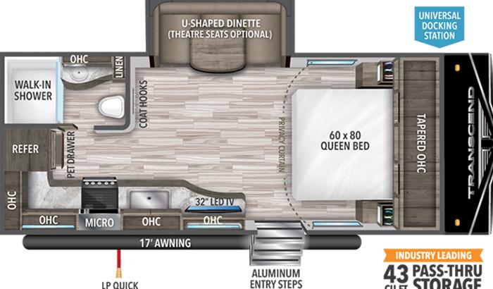 Transcend XPLOR 200MK floor plan diagram.