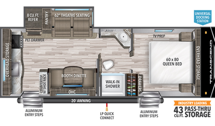 Transcend XPLOR 231RK floor plan diagram.