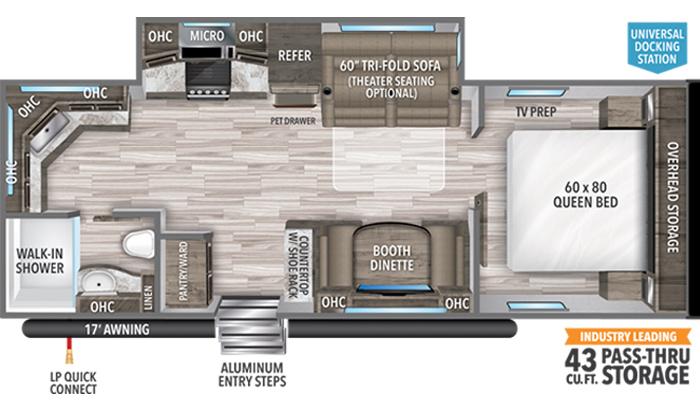 Transcend XPLOR 240ML floor plan diagram.