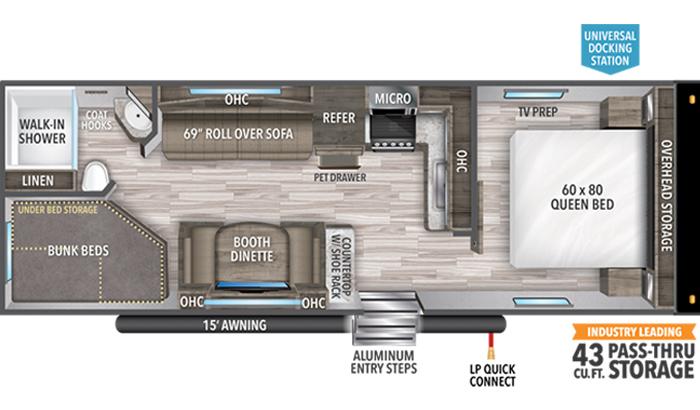 Transcend XPLOR 247BH floor plan diagram.