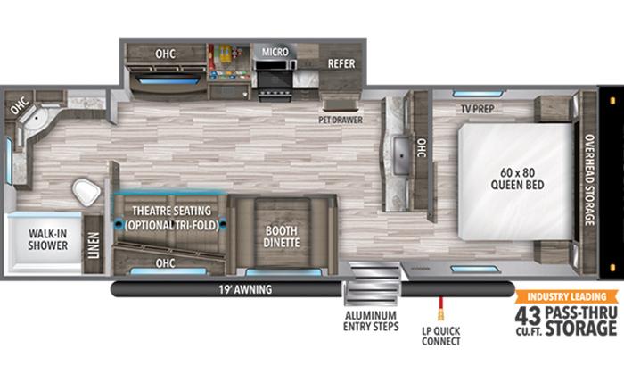 Transcend XPLOR 260RB floor plan diagram.