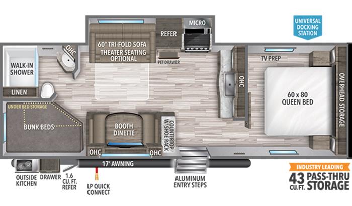 Transcend XPLOR 261BH floor plan diagram.