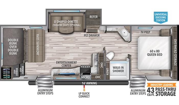 Transcend XPLOR 265BH floor plan diagram.