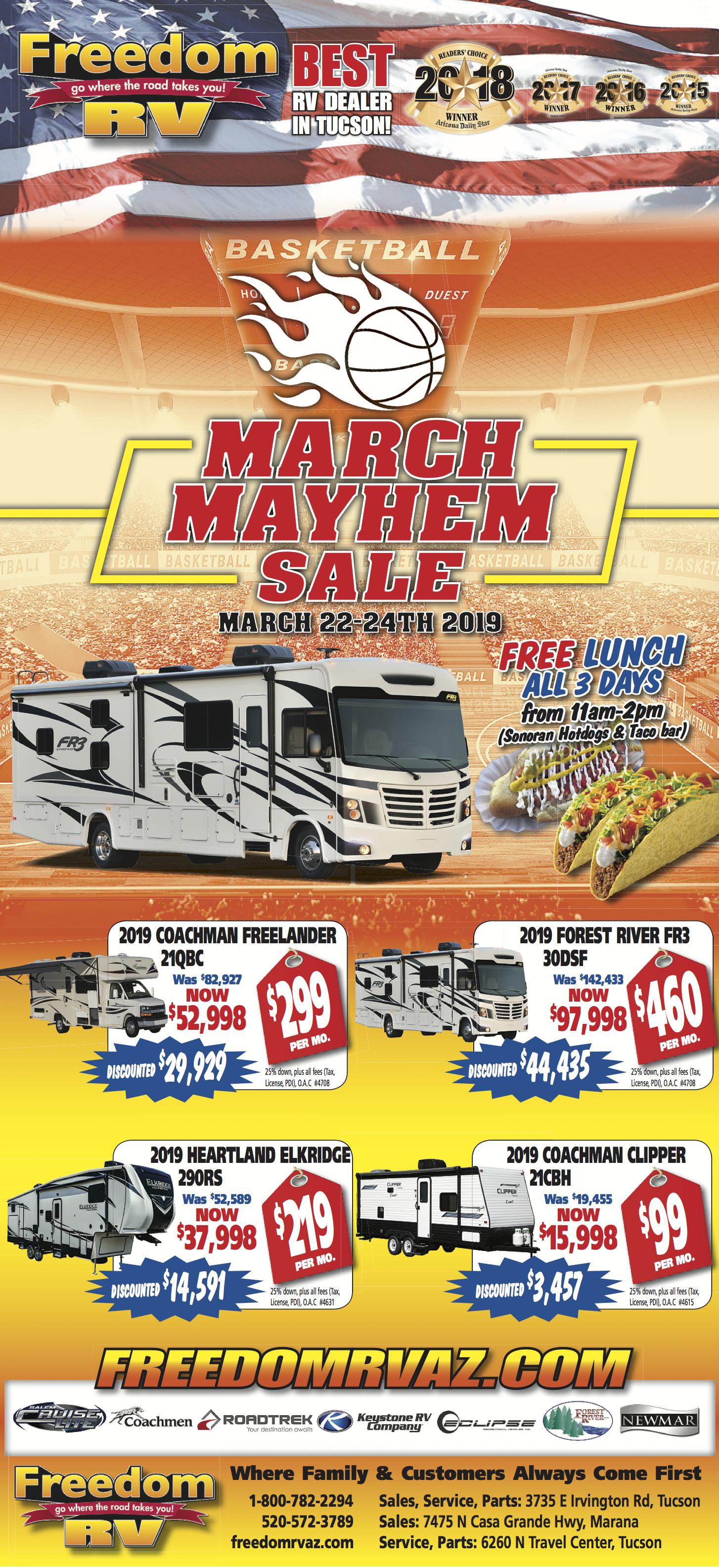 March Mayhem Sale | Freedom RV | Arizona RV Dealer