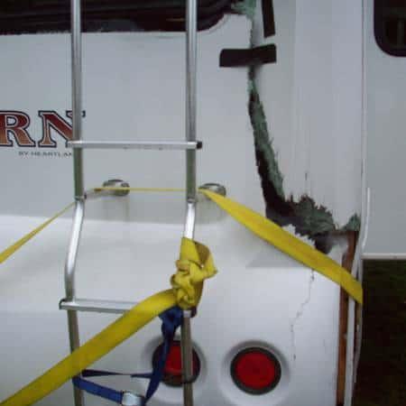 RV damage rear before