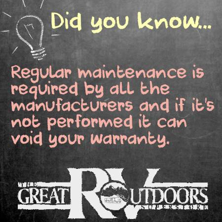 Did you Know, Regular Maintenance is required to not void warranty.