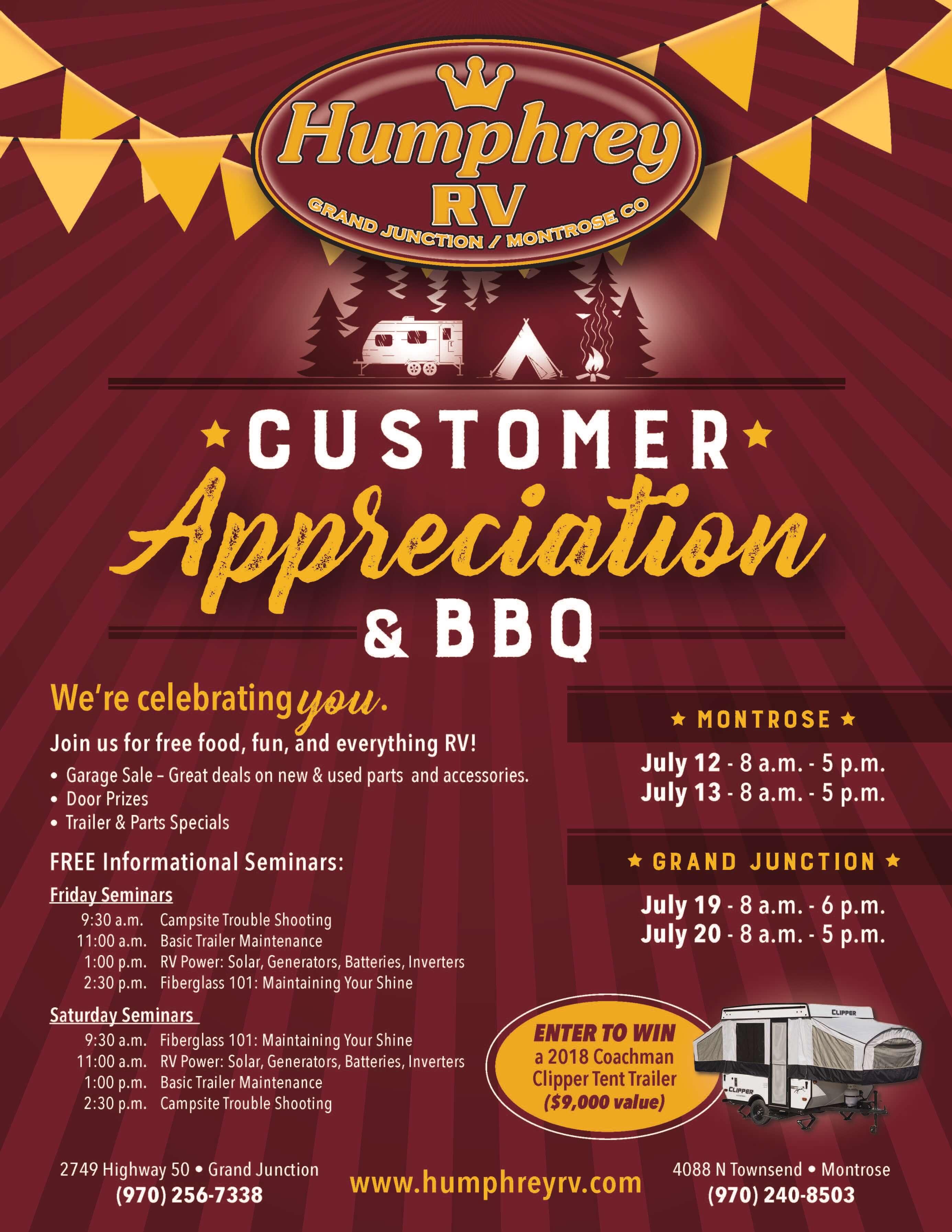 Customer Appreciation Event | Humphrey RV