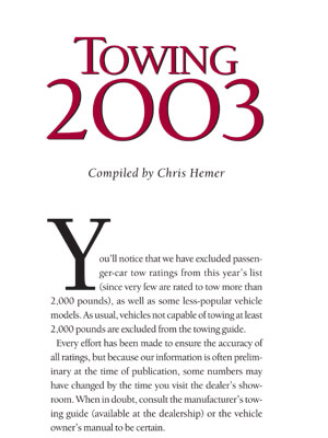 Download 2003 Towing Guide